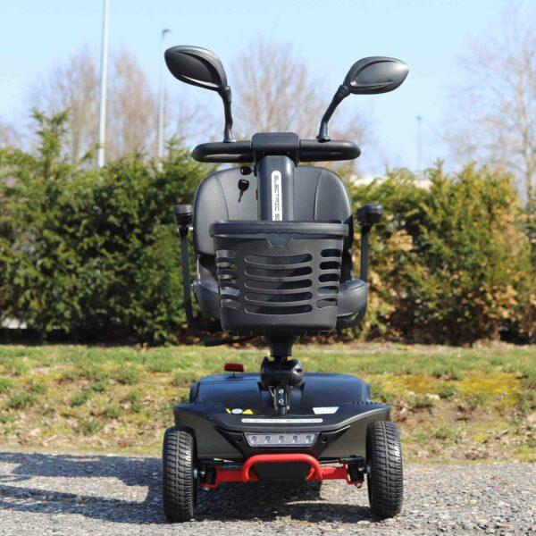 schwarze Seniorenmobil - Abbildung von Vorne
